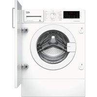 BEKO WIX765450 Integrated 7 kg 1600 Spin Washing Machine - White, White