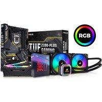 Intel Core i7-9700K Processor, Asus TUF Z390-PLUS Motherboard, 16GB RAM & AMD Hydro Series CPU Cooler Bundle