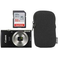 Canon IXUS 185 Compact Camera Essentials Kit & 32GB Ultra Class 10 SDXC Memory Card Bundle