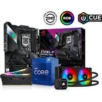 PCSPECIALIST Intel®Core i9 Processor, ROG STRIX Motherboard, 16 GB RAM & Corsair RGB Cooler Components Bundle