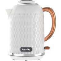 BREVILLE  Curve VKT018 Jug Kettle - White & Rose Gold, White