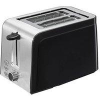 'Logik L02tss17 2-slice Toaster - Black & Stainless Steel