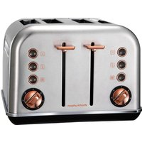 Buy MORPHY RICHARDS Accents 102105 4-Slice Toaster - Brushed Stainless Steel & Rose Gold, Stainless Steel - Currys PC World