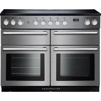 RANGEMASTER Nexus SE NEXSE110EISS/C 110 cm Electric Induction Range Cooker - Stainless Steel and Chrome, Stainless Steel