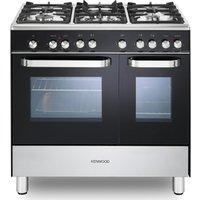KENWOOD CK405-1 90 cm Dual Fuel Range Cooker - Black and Chrome, Black