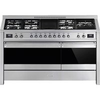 SMEG Opera A5-81 150 cm Dual Fuel Range Cooker - Stainless Steel, Stainless Steel