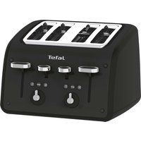 TEFAL Retra TF700N40 4-Slice Toaster - Matt Black, Black.