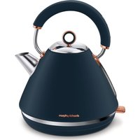 Click to view product details and reviews for Morphy Richards Rose Gold Collection Accents 102039 Traditional Kettle Blue Rose Gold Gold.