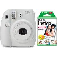 INSTAX mini 9 Instant Camera & Mini Film Bundle, White