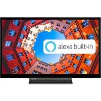 """24"""" TOSHIBA 24WK3A63DB Smart HD Ready LED TV with Amazon Alexa"""