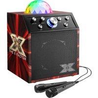 TOYRIFIC X Factor Disco Cube TY6085A Portable Bluetooth Karaoke Machine & Speaker - Black & Red, Black.