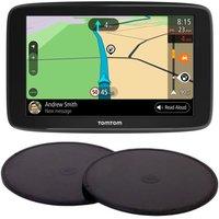 "TOMTOM GO Basic 6"" Full Europe Maps Sat Nav & Adhesive Dashboard Mount Disks Bundle"