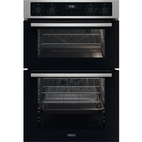 ZANUSSI FanCook ZKCNA4X1 Electric Double Oven - Stainless Steel and Black, Stainless Steel