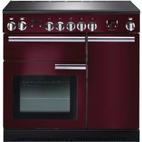 RANGEMASTER Professional 90 Electric Induction Range Cooker - Cranberry & Chrome, Cranberry