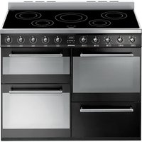 SMEG Symphony SYD4110IBL 110 cm Electric Induction Range Cooker - Black and Stainless Steel, Stainless Steel