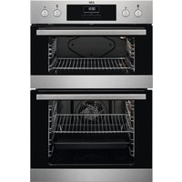 AEG DEB331010M Electric Double Oven - Stainless Steel, Stainless Steel