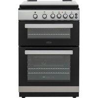 BELLING FSG608Dc 60 cm Dual Fuel Cooker - Silver & Black, Silver