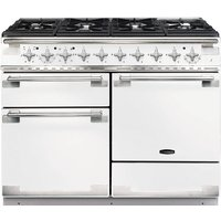 RANGEMASTER Elise 110 Dual Fuel Range Cooker - White & Chrome, White