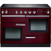Rangemaster Professional+ 110 Electric Induction Range Cooker - Cranberry and Chrome, Cranberry