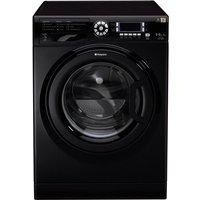 HOTPOINT WDUD9640K Washer Dryer - Black, Black