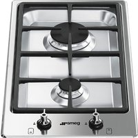 SMEG Classic PGF32G Domino Gas Hob - Stainless Steel, Stainless Steel