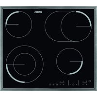 ZANUSSI ZEV6646XBA Electric Ceramic Hob - Black and Stainless Steel, Stainless Steel