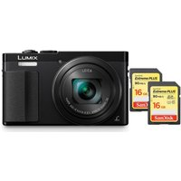 Panasonic Lumix Dmc-tz70eb-k Compact Camera & Sdhc Memory Card, 16 Gb Twin Pack Bundle