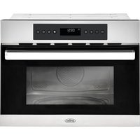 BELLING BI45COMW Built-in Compact Combination Microwave - Black and Stainless Steel, Stainless Steel