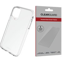 GEAR4 Crystal Palace iPhone 11 Clear Case & InvisibleShield ClearGuard Screen Protector Bundle