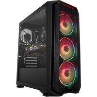 PC SPECIALIST Tornado R5 Gaming PC - AMD Ryzen 5, GTX 1660, 1 TB HDD & 256 GB SSD, Transparent.