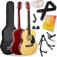 3RD AVENUE STX10 Acoustic Guitar Premium Bundle - Natural
