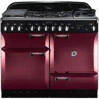 RANGEMASTER Elan 110 Dual Fuel Range Cooker - Cranberry, Cranberry