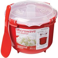 SISTEMA Round 2.6-litre Rice Steamer, White.