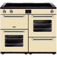 BELLING Kensington 100Ei CRM 100 cm Electric Induction Range Cooker - Cream and Chrome, Cream