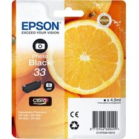 EPSON No. 33 Oranges Black Photo Ink Cartridge