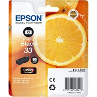 EPSON No. 33 Oranges Black Ink Cartridge, Black