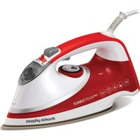 MORPHY RICHARDS Turbosteam Pro Pearl 303124 Steam Iron - White & Red, White