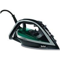 TEFAL Turbo Pro FV5640 Steam Iron - Black & Green, Black