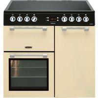 LEISURE Cookmaster CK90C230C 90 cm Electric Ceramic Range Cooker - Cream and Chrome, Cream