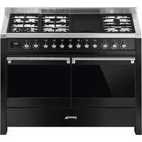 SMEG Opera A4BL-81 120 cm Dual Fuel Range Cooker - Black, Black