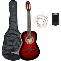 3RD AVENUE STX20 Full Size Classical Guitar Bundle - Redburst