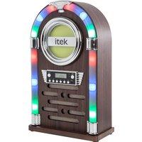 ITEK I60018CD Bluetooth Jukebox - Brown, Brown