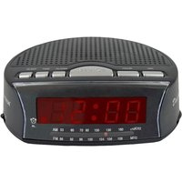 LLOYTRON Daybreak J2006BK Portable FM/AM Clock Radio - Black, Black