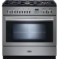RANGEMASTER Professional FXP 90 Dual Fuel Range Cooker - Stainless Steel & Chrome, Stainless Steel