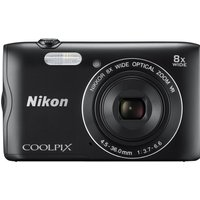 Nikon COOLPIX A300 Compact Camera - Black, Black