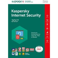 KASPERSKY Internet Security 2017 Multi-Device (3 devices, 1 year)