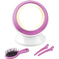 Babyliss Reflections Illuminated Globe Mirror - Pink, Pink