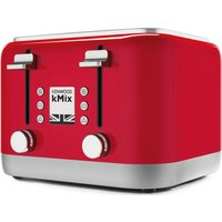 Buy KENWOOD KMIX TFX750RD 4-Slice Toaster - Red, Red - Currys PC World