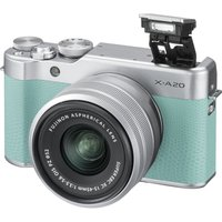 FUJIFILM X-A20 Mirrorless Camera with FUJINON XC 15-45 mm f/3.5-5.6 OIS PZ Lens - Mint Green & Silver, Green