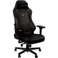 NOBLECHAIRS HERO Real Leather Gaming Chair - Black, Black